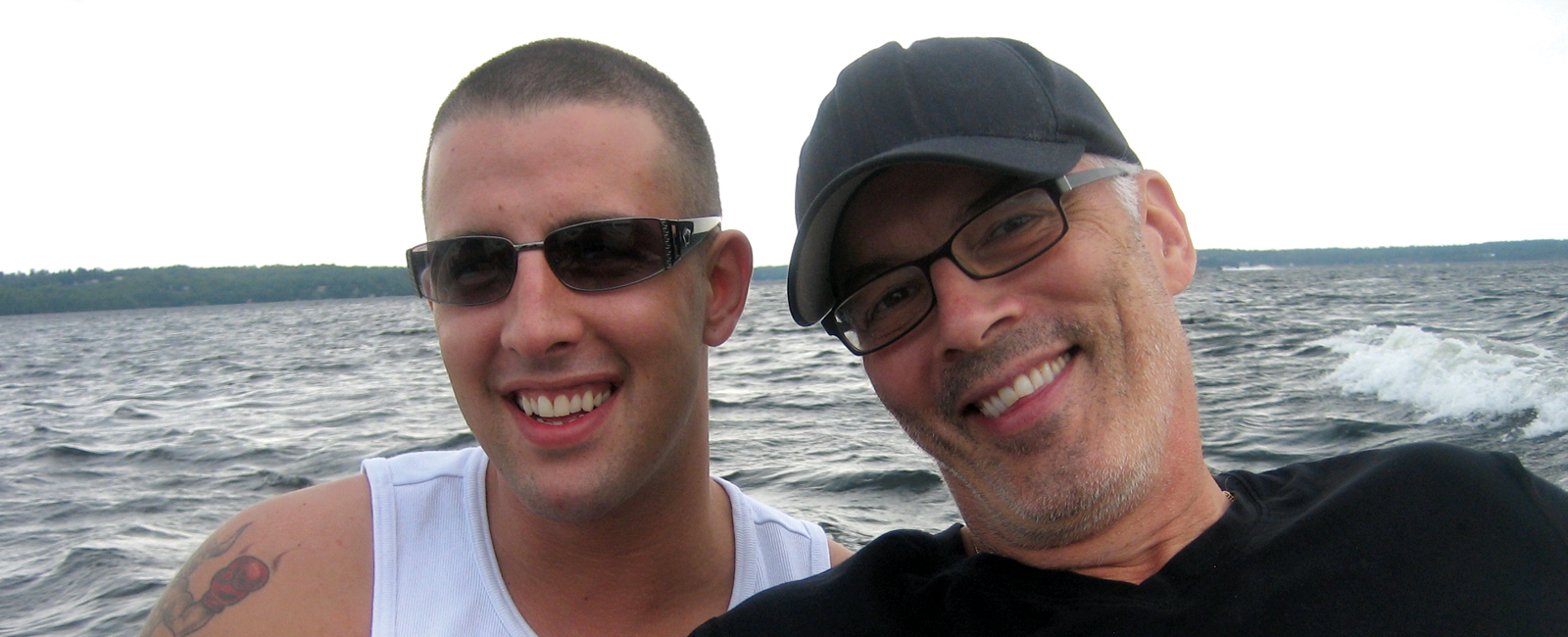 Bruce Oake (1985 - 2011) pictured with father Scott